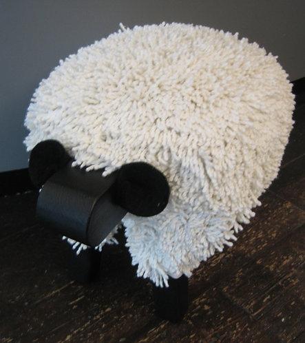 Ivory / Black Sheep Footstools