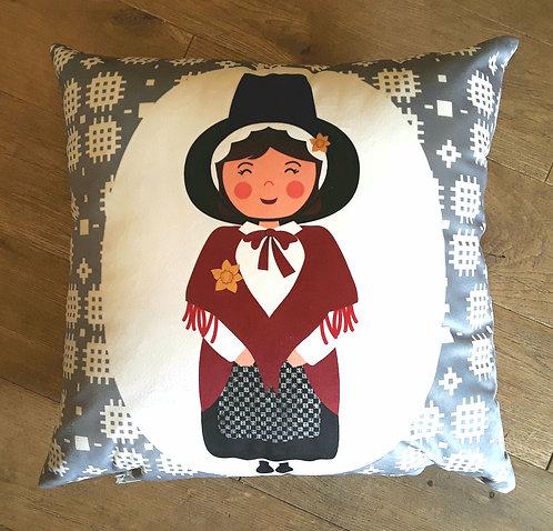 Welsh Lady Cushion