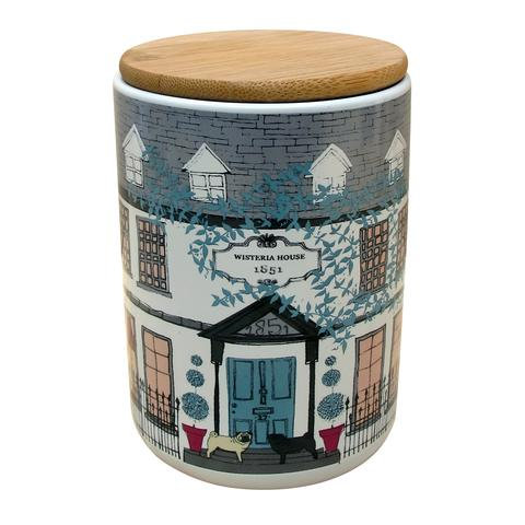 Ceramic House Lidded Jar