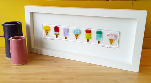 Fused Glass Picture  -Lollies & Ice Creams