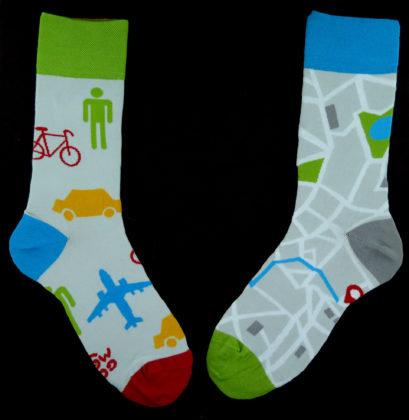 Mens Socks -Maps