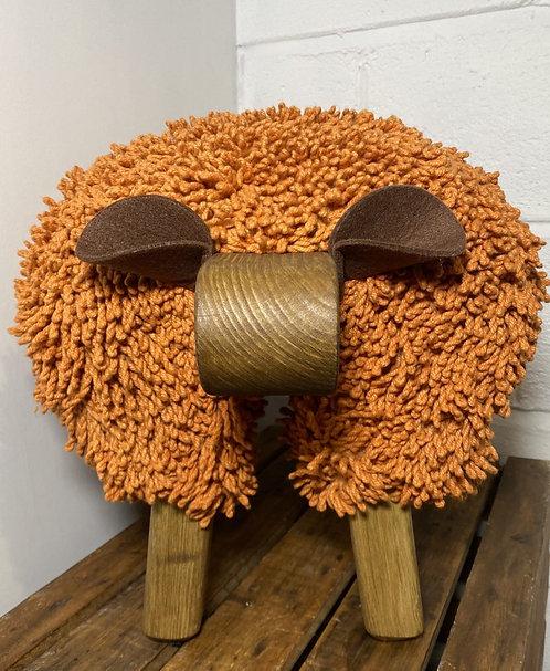 Autumn / Oak Sheep Footstool