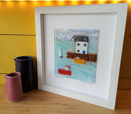 Fused Glass Picture  - Harbour Wall