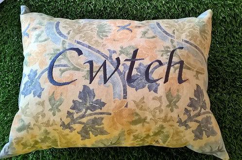 Cwtch Cushion Blue Floral