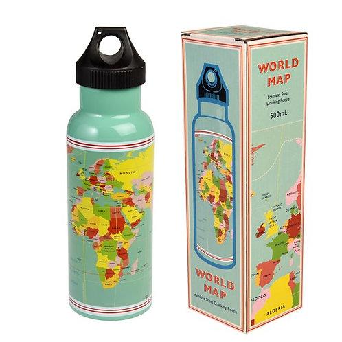 World Map Stainless Steel Bottle