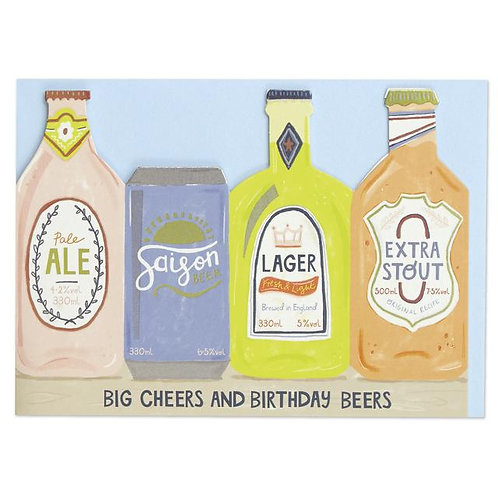 Happy Birthday Card - Beers