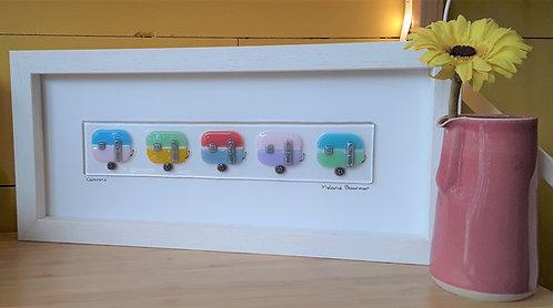 Fused Glass Picture  - Caravans