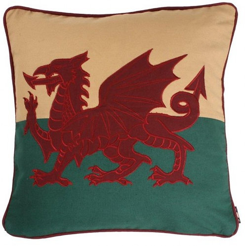 "Welsh Dragon Cushion 12"" x 12"""