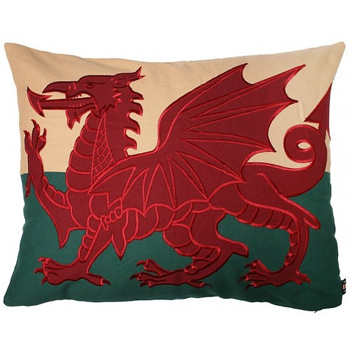 "Welsh Dragon Cushion 21"" x 27"""