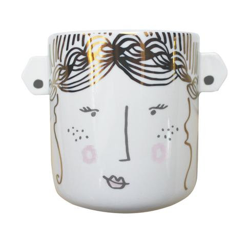 Over the Moon Lady Ceramic Planter