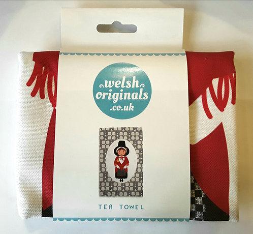 Welsh Lady - Tea towel