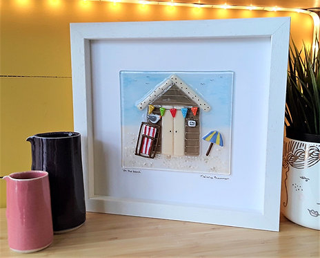 Fused Glass Picture  - On The Beach