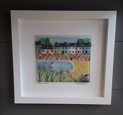 Fused Glass Picture  - Harbour View