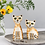 Thumbnail: Handmade Ceramic Cat Salt and Pepper Shakers