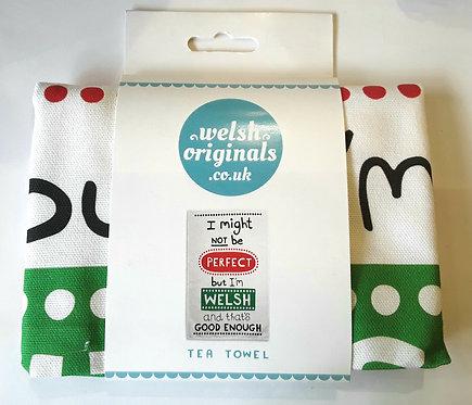 Perfect Welsh - Tea towel