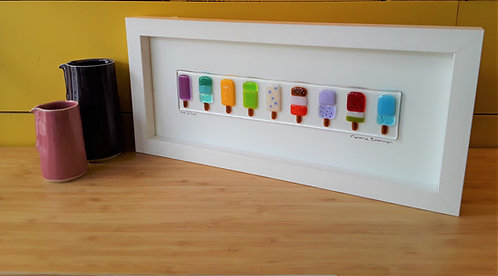 Fused Glass Picture  -Lollies