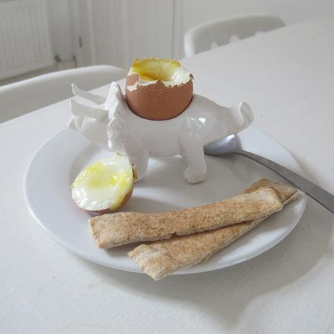 Origami White Dino Egg Cup
