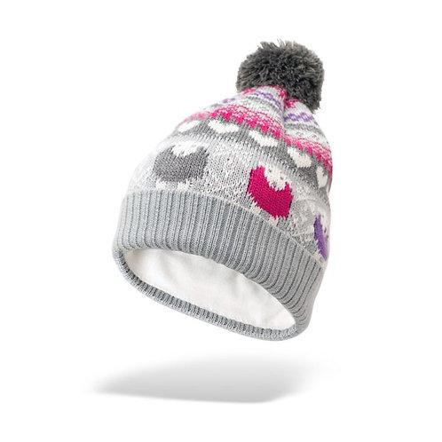 Multi - Coloured Fair Isle Bobble Hat