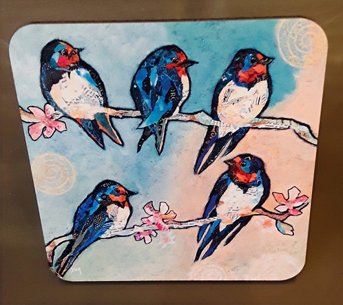 Coaster - Swallows and Swirls