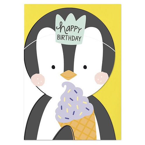 Happy Birthday Card - Penguin