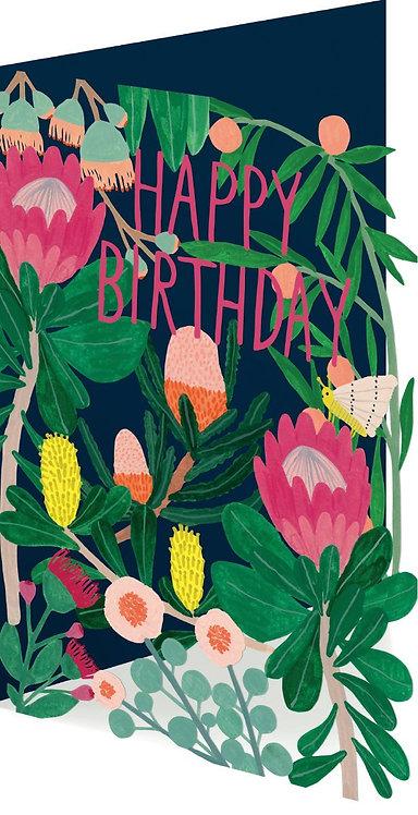 Happy Birthday Lasercut Greeting Card