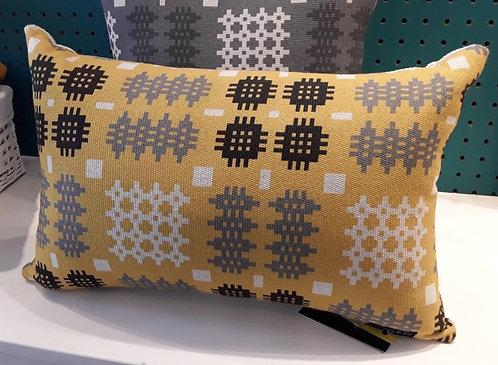 Mustard Rectangle Welsh Blanket Cushion