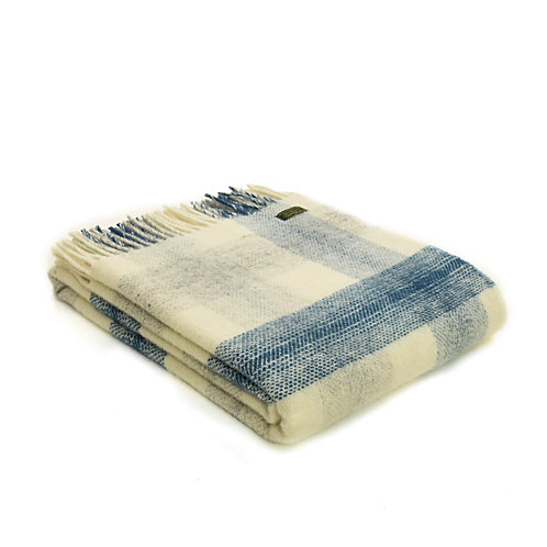 Meadow Check Ink Throw