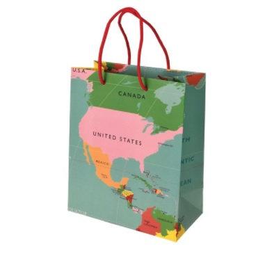 World Map Small Giftbag