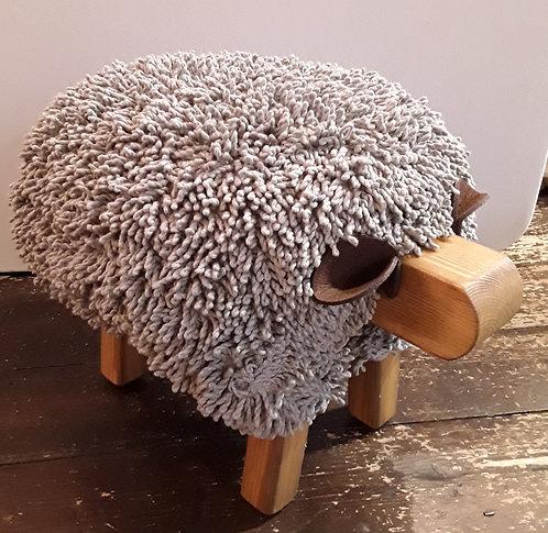 Light Grey / Oak Sheep Footstool