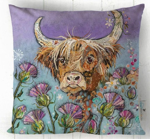Cushion -Thistle Coo