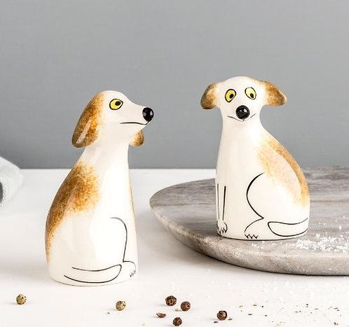 Handmade Ceramic Dog Salt and Pepper Shakers