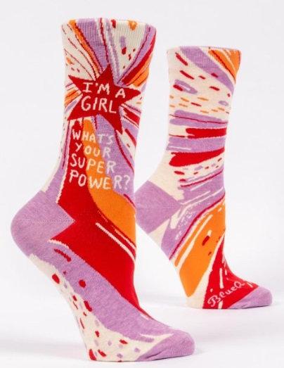 Ladies Socks -Girl Power