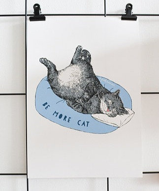 Be More Cat A4 Print