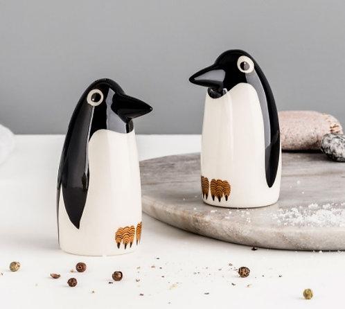 Handmade Ceramic Penguin Salt and Pepper Shakers