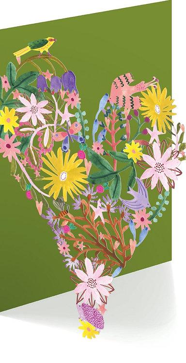 Heart Lasercut Greeting Card