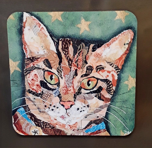 Coaster - Tabby Cat