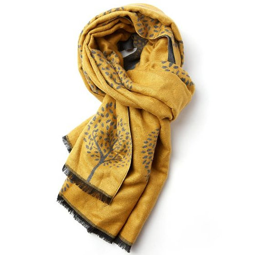 Scarf - Mulberry Trees Mustard