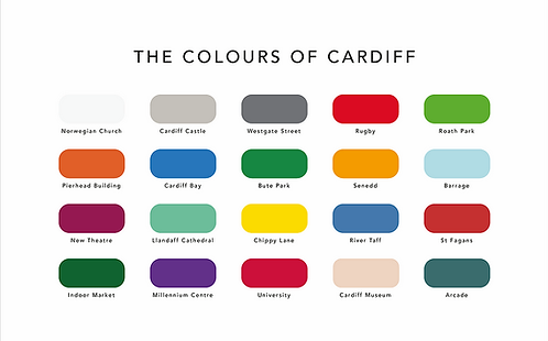 Colours of Cardiff - A4 Print