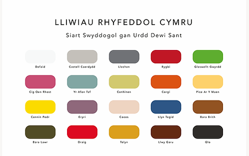 Colours of Wales  - Welsh Language A4 Print