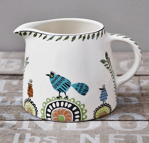 Handmade Ceramic Birdlife Milk Jug