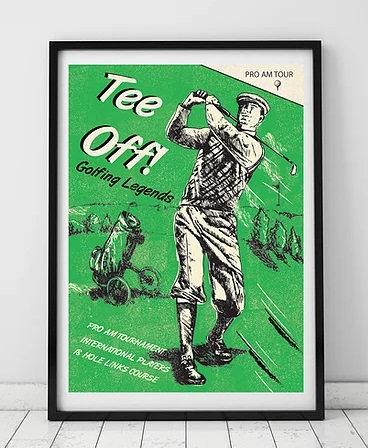 Tee Off Framed Print