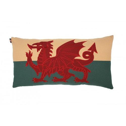 "Welsh Dragon Cushion 15"" x 30"""
