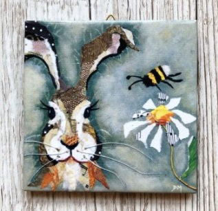 Hare and Bee Wall Tile