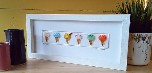 Fused Glass Picture  - Ice Cream