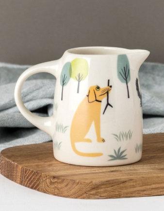 Handmade Ceramic Dog Small Jug