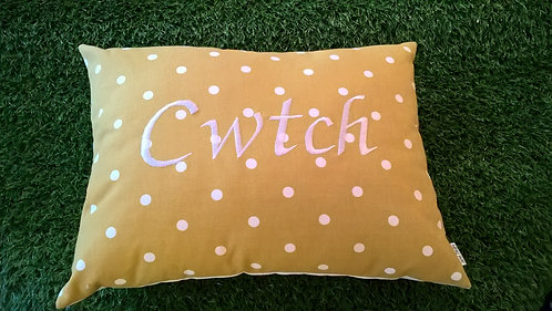 Cwtch Cushion Mustard Spot