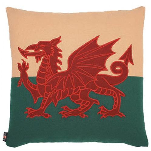 Square Welsh Dragon Cushion