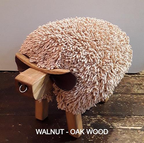 Walnut Bull Ewemoo Footstool