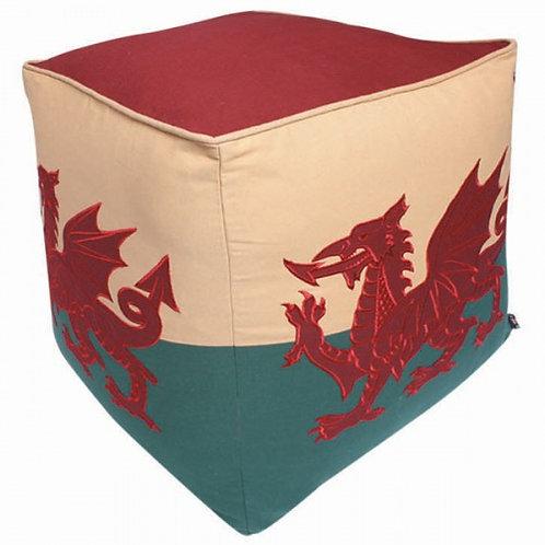Welsh Dragon Pouffe