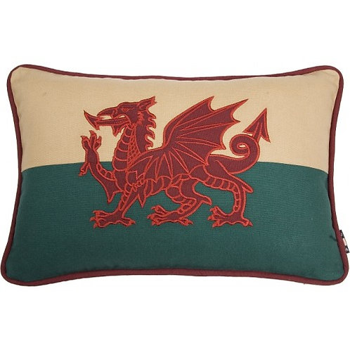 "Welsh Dragon Cushion 12"" x 18"""